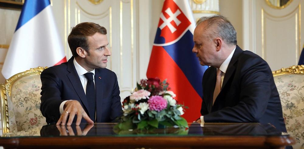 Kiska prijal francúzskeho prezidenta Macrona, hovorili o spoločnej Európe