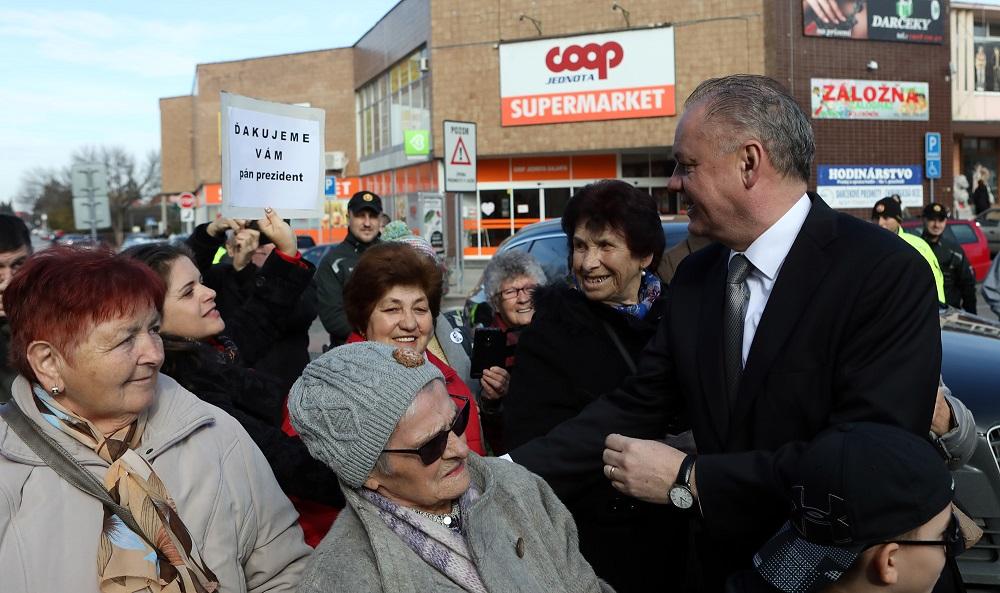 Andrej Kiska navštívil Šaľu, hovoril o problémoch zdravotníctva