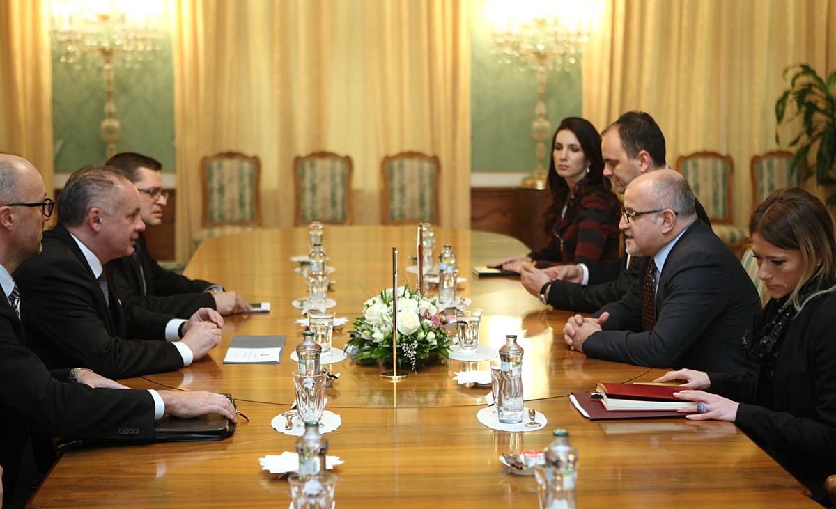 Kiska diskutoval s ministrom zahraničných vecí Čiernej Hory