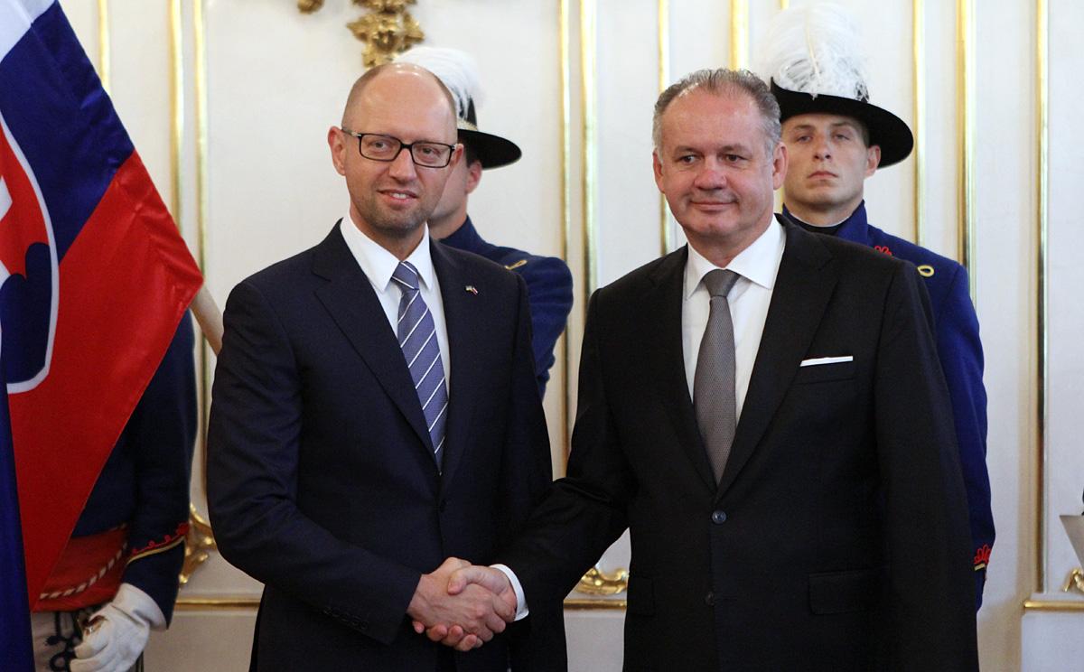 Kiska rokoval s ukrajinským premiérom