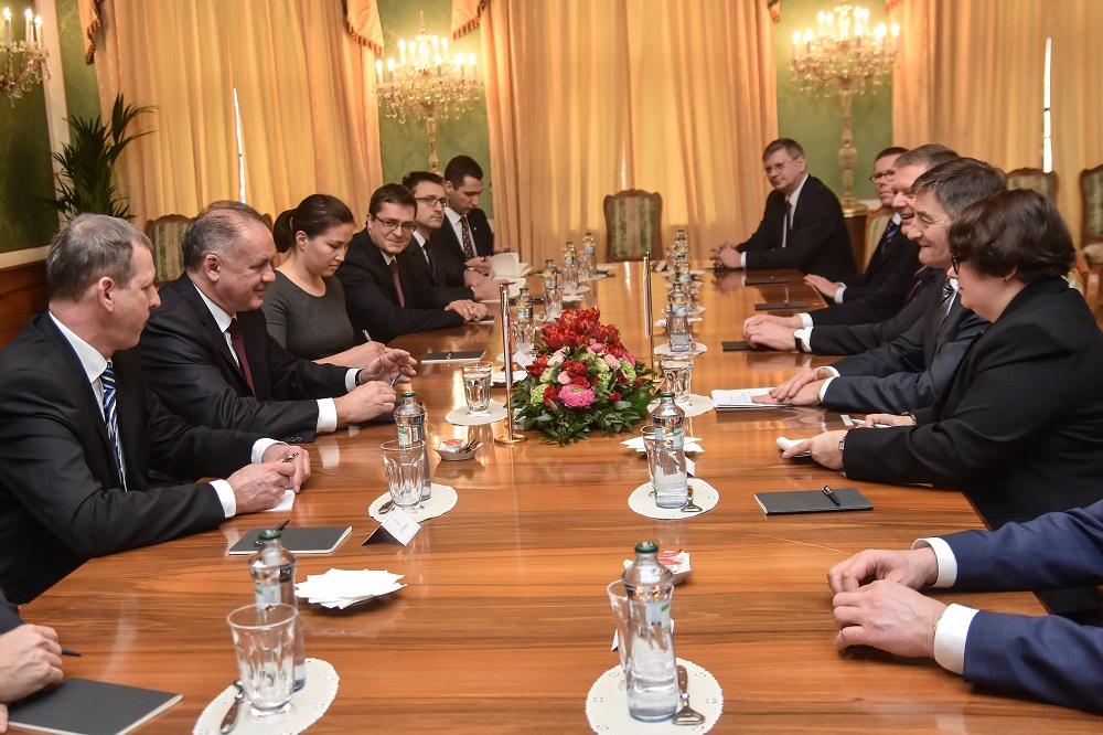 Prezident Kiska prijal predsedu poľského Sejmu