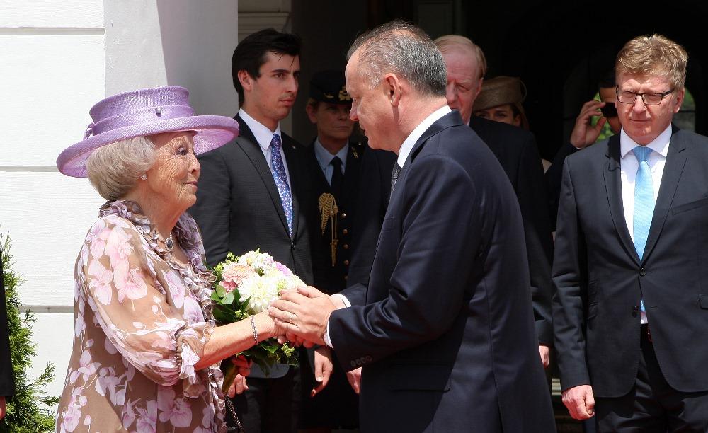Prezident Kiska privítal holandskú princeznú Beatrix