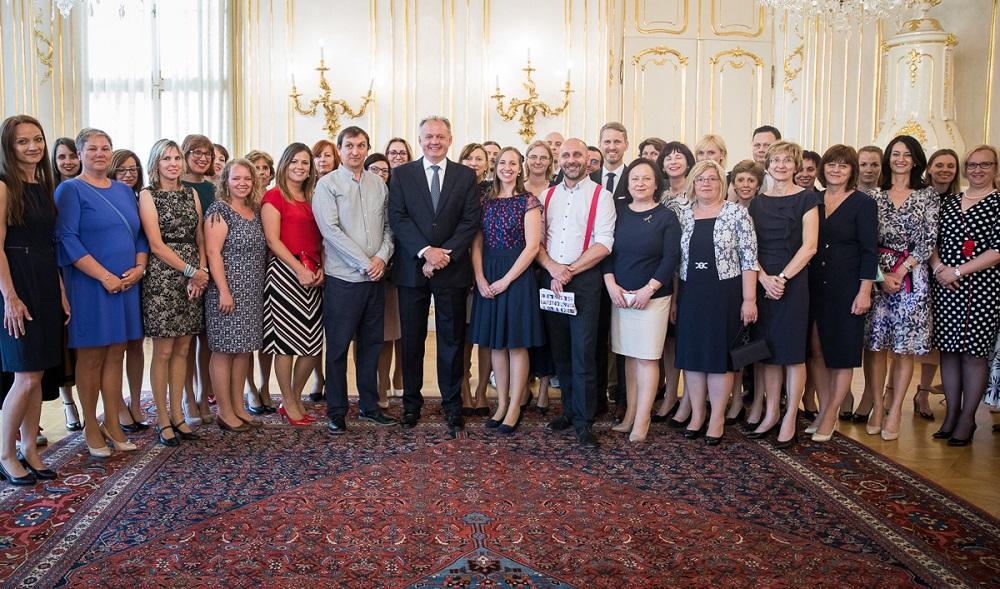 Prezident prijal učiteľov z programu Komenského inštitút