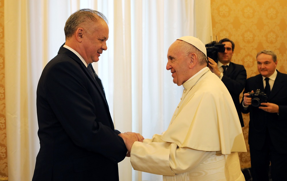 President: The Pope is the most cherished man I could ever meet
