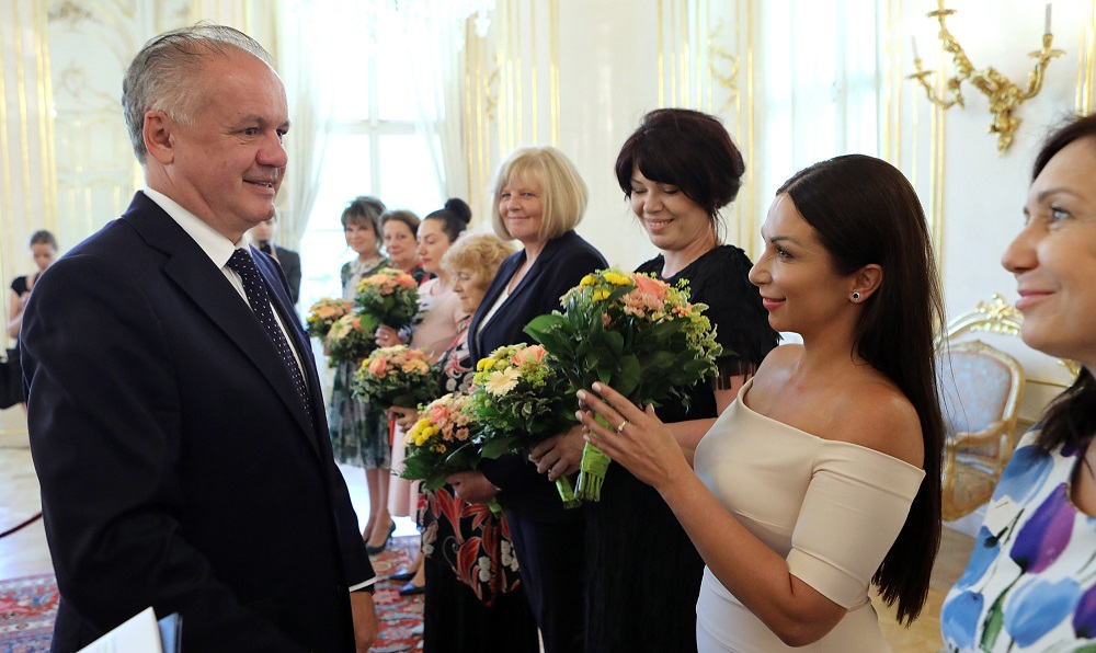 Prezident pozval na obed ocenené Slovenky roka