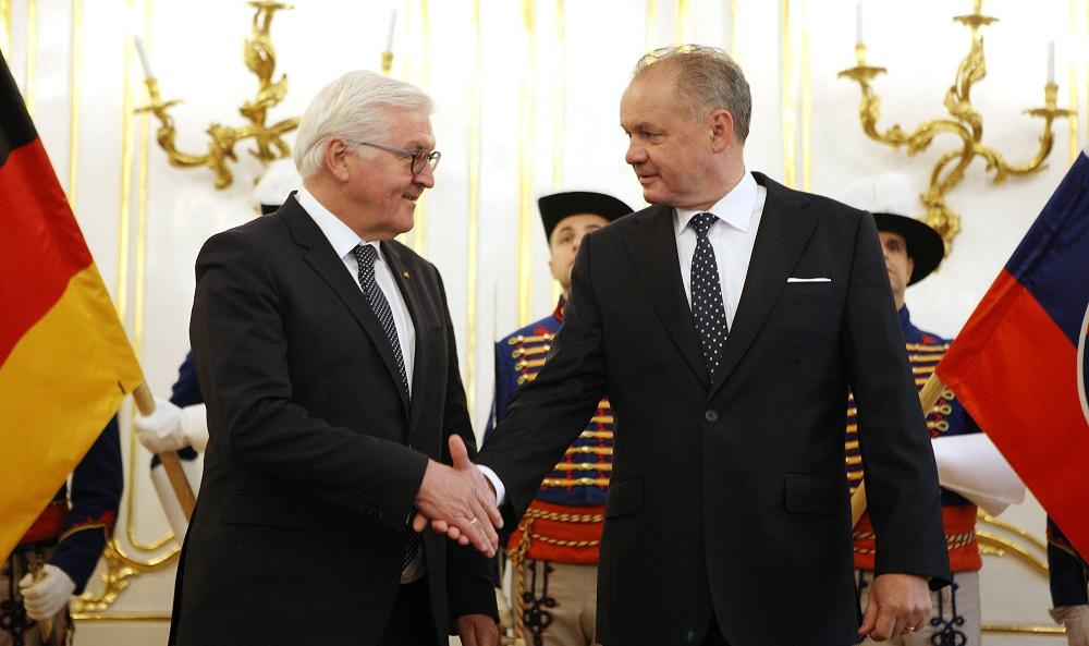 Kiska privítal nemeckého prezidenta Steinmeiera na oficiálnej návšteve