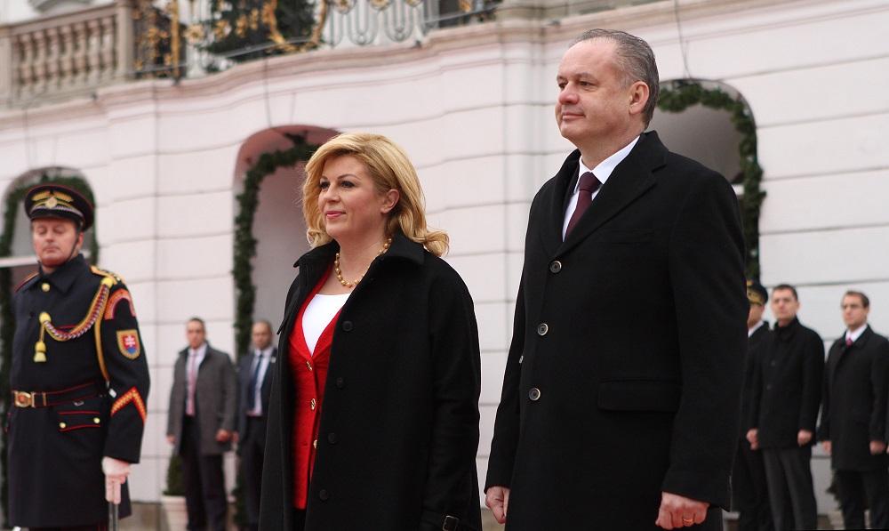 Kiska a prezidentka Chorvátska zdôraznili jednotu Európskej únie