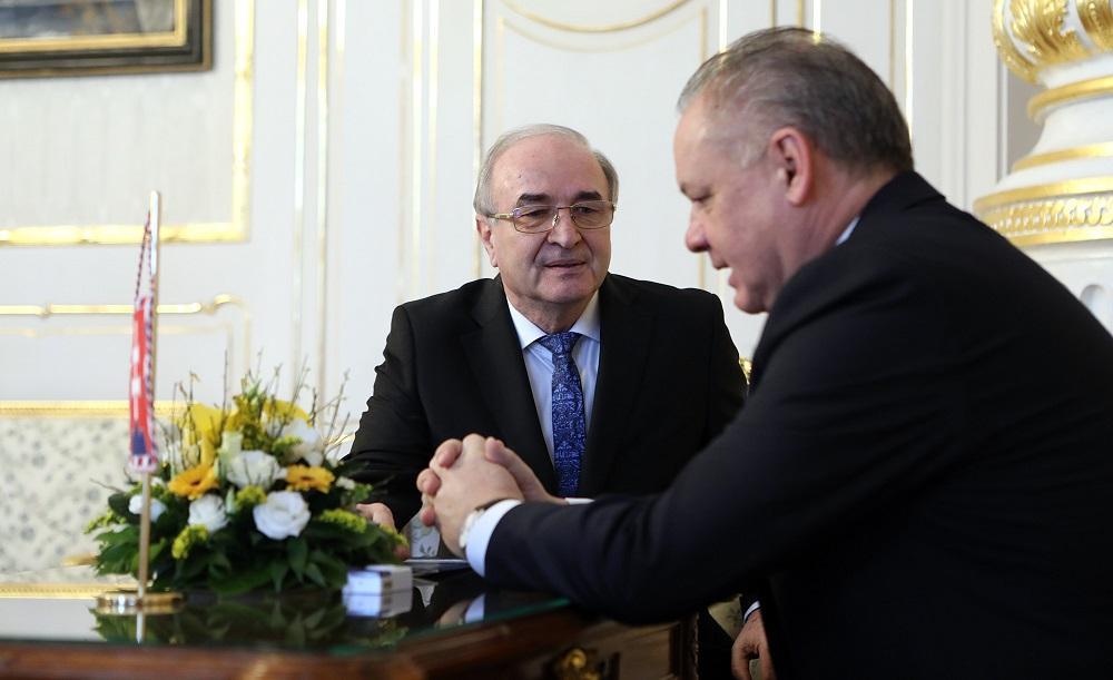Prezident prijal guvernéra NBS Jozefa Makúcha
