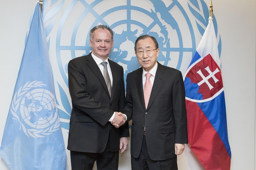 Kiska rokoval s generálnym tajomníkom OSN