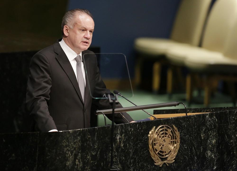 Kiska sa zúčastnil na debate OSN k udržateľnému rozvoju