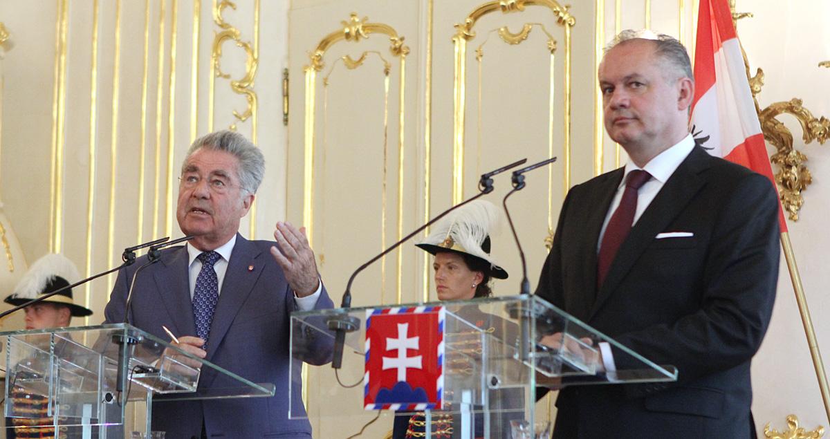 Kiska prijal rakúskeho prezidenta na oficiálnej návšteve Slovenska
