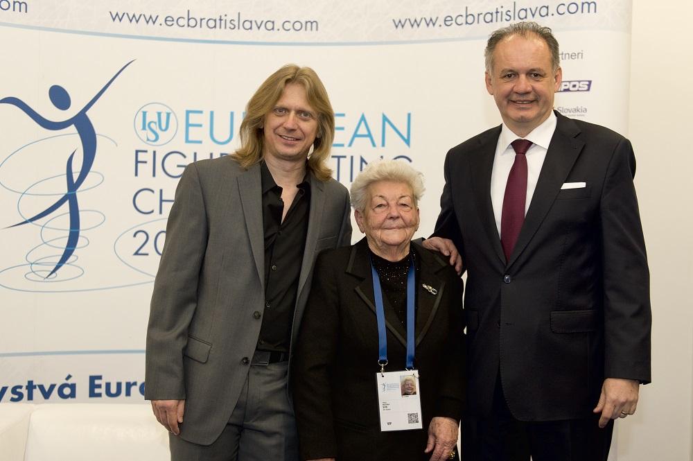 Prezident otvoril majstrovstvá Európy v krasokorčuľovaní