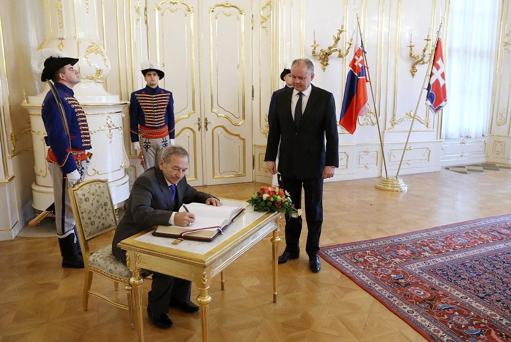 Prezident Kiska prijal predsedu českého senátu Kuberu