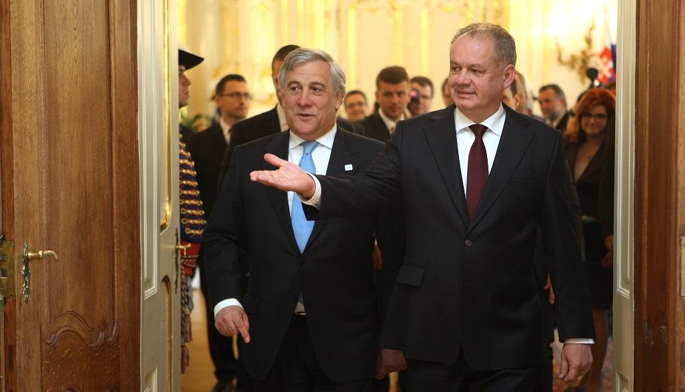 Prezident Kiska prijal predsedu Európskeho parlamentu Tajaniho