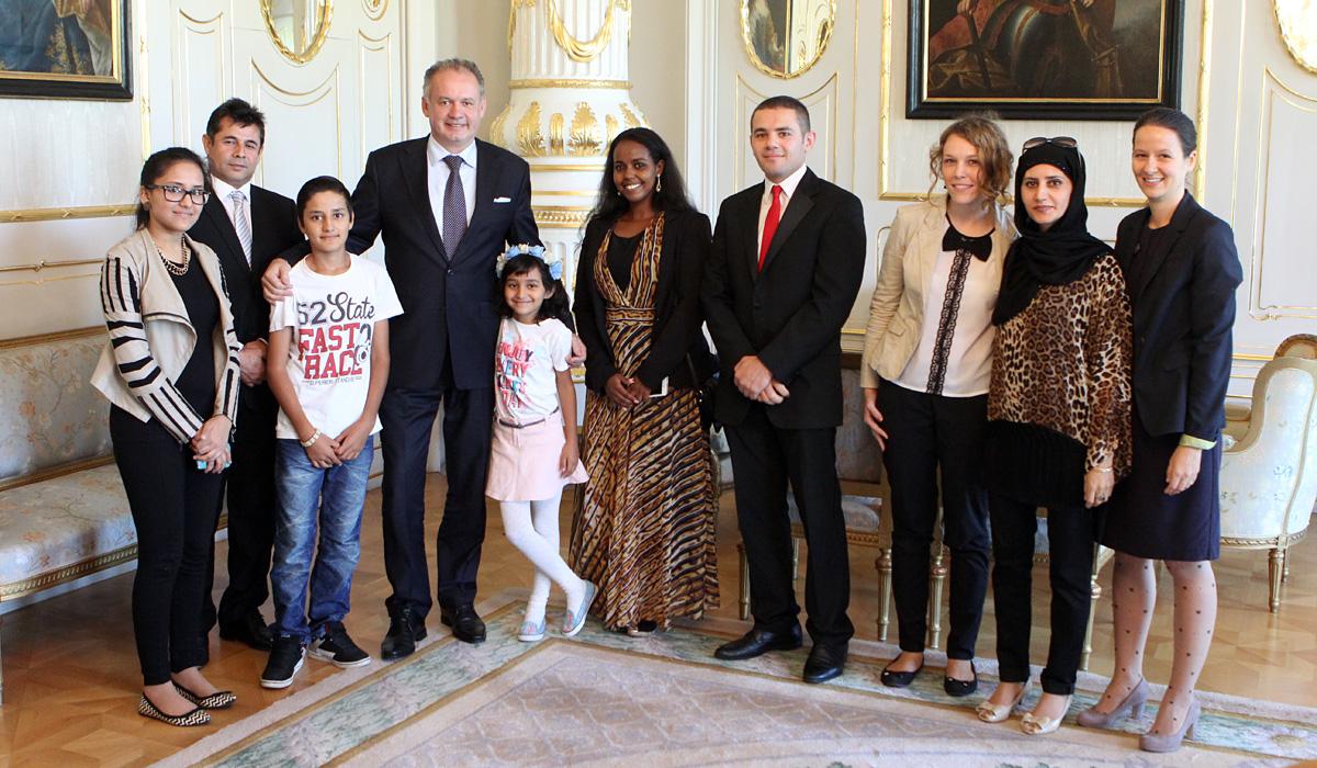 Prezident prijal cudzincov, ktorí požiadali o azyl alebo už sú občanmi SR