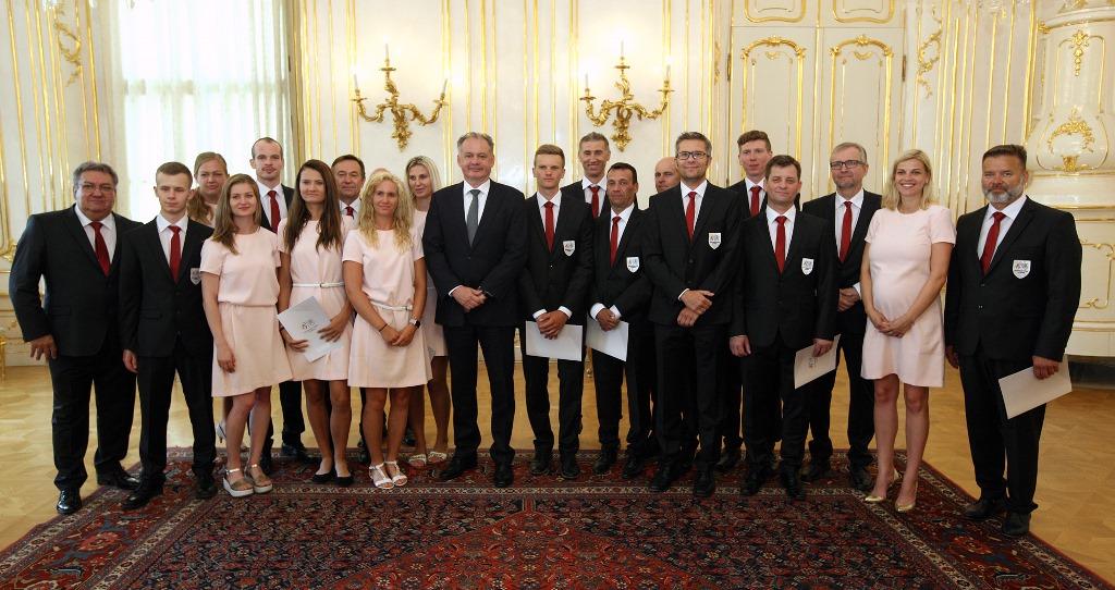 Prezident prijal slovenský deaflympijský tím pred odchodom na olympiádu