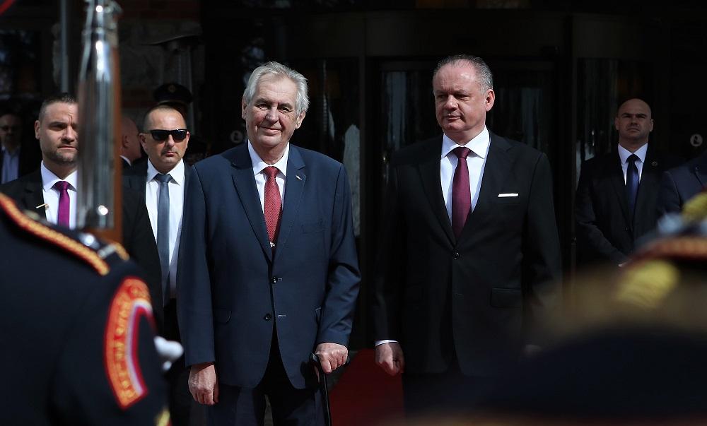 Prezident Zeman navštívil Slovensko