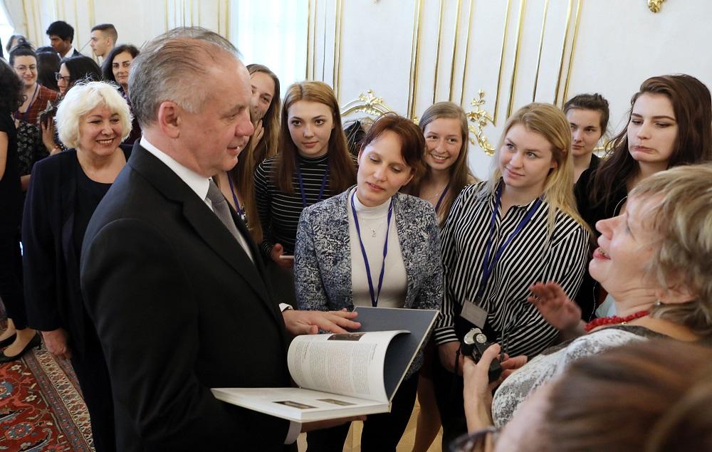 Prezident prijal učiteľov, ktorí sa zúčastnili programu Erasmus