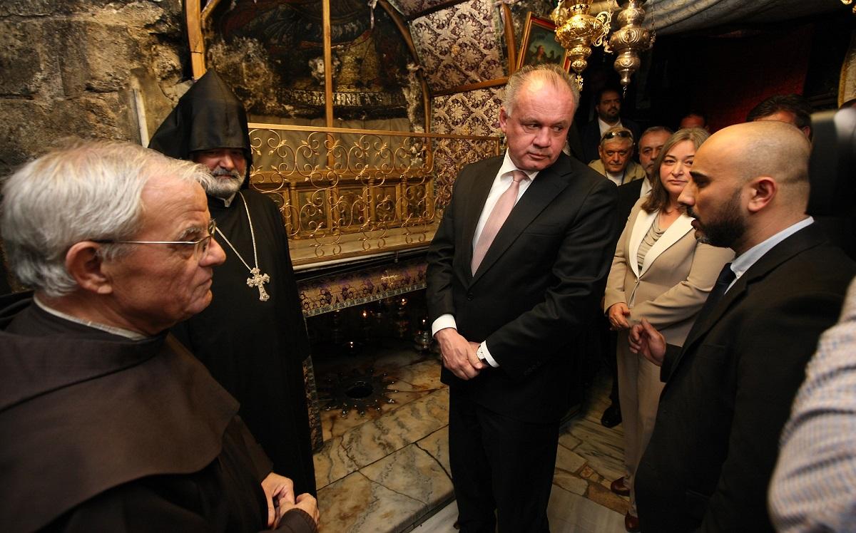 Prezident Kiska v Betleheme: Každému veriacemu prajem ten zážitok