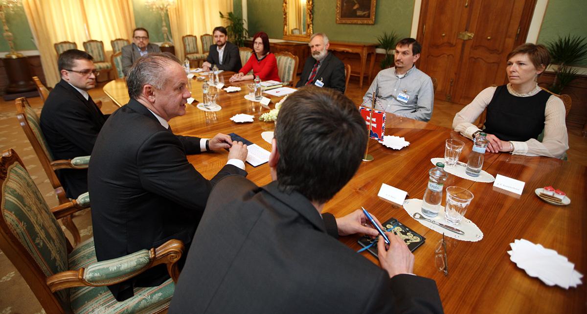 Andrej Kiska prijal zástupcov environmentálnych mimovládok