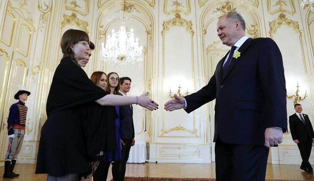 Andrej Kiska prijal organizátorov štrajku za budúcnosť klímy