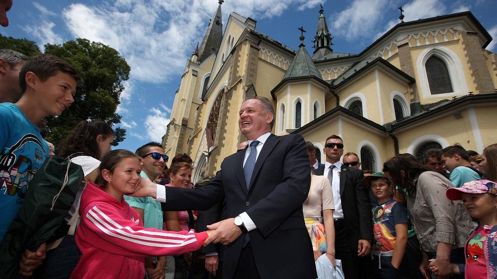 Andrej Kiska sa zúčastnil na Levočskej púti
