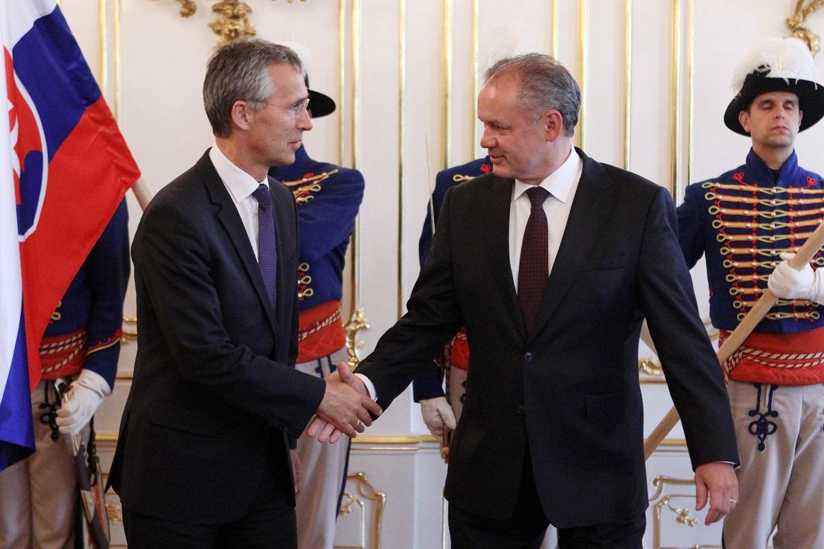 Andrej Kiska prijal generálneho tajomníka NATO