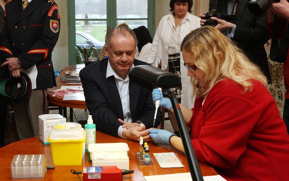 Prezident Kiska otvoril Valentínsku kvapku krvi