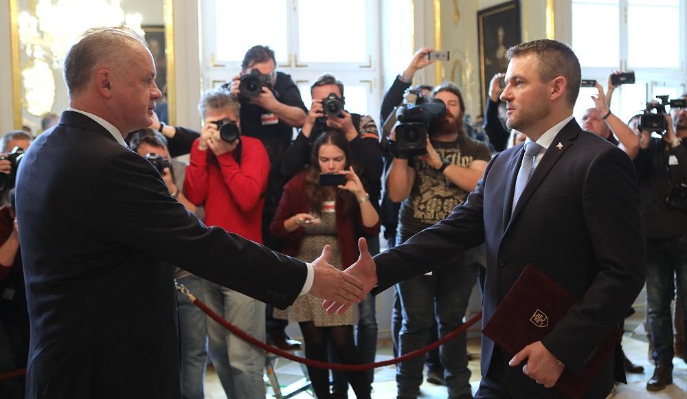 Prezident Kiska prijal Petra Pellegriniho s podpismi 79 poslancov