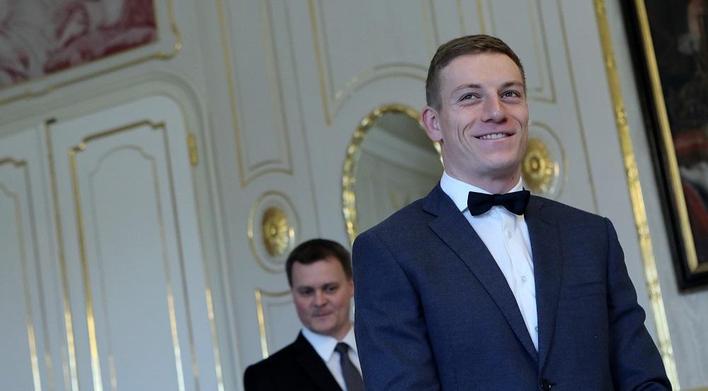 Andrej Kiska prijal Jána Volka, majstra Európy v behu na 60 m