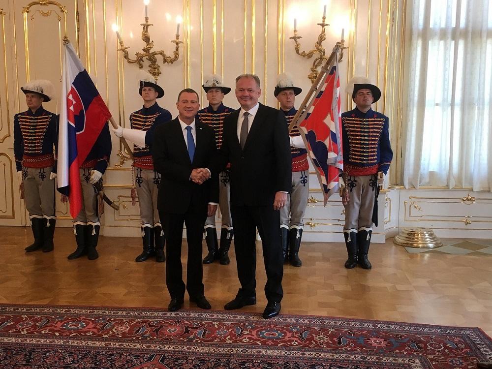 Kiska rokoval s predsedom izraelského parlamentu