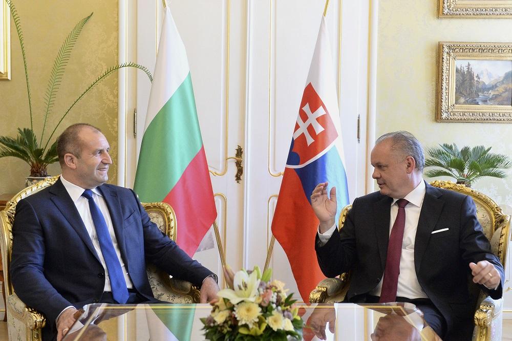 Andrej Kiska privítal bulharského prezidenta na oficiálnej návšteve