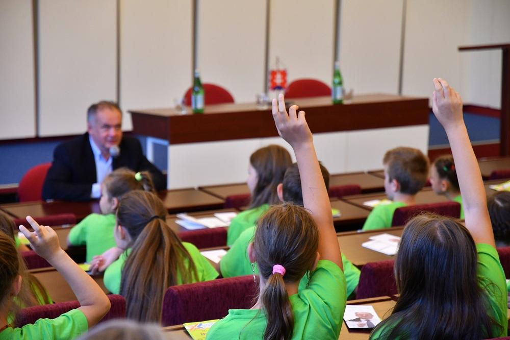Andrej Kiska navštívil Detskú univerzitu v Poprade