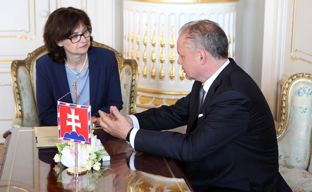 Prezident Kiska prijal ministerku spravodlivosti Žitňanskú