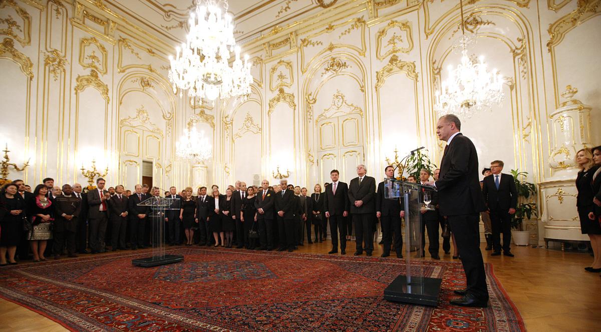 President Kiska held a New Year 's meeting with diplomats