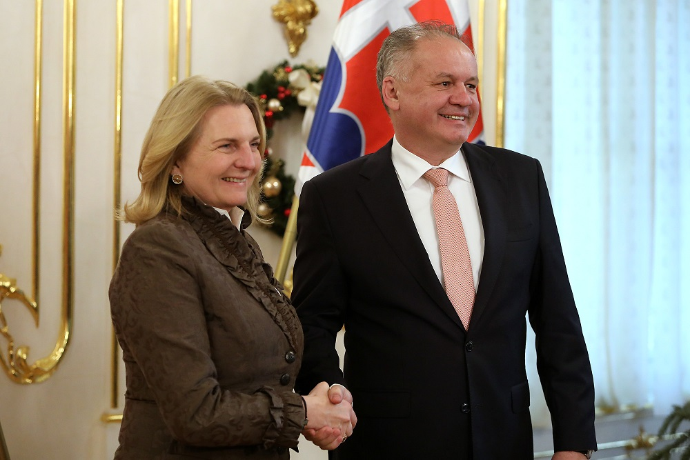 Andrej Kiska diskutoval s rakúskou ministerkou zahraničia