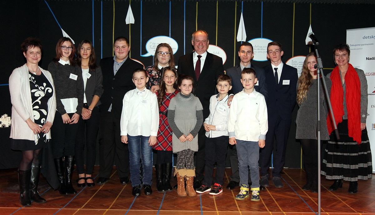 Prezident Kiska bol na oceňovaní Detského činu roka