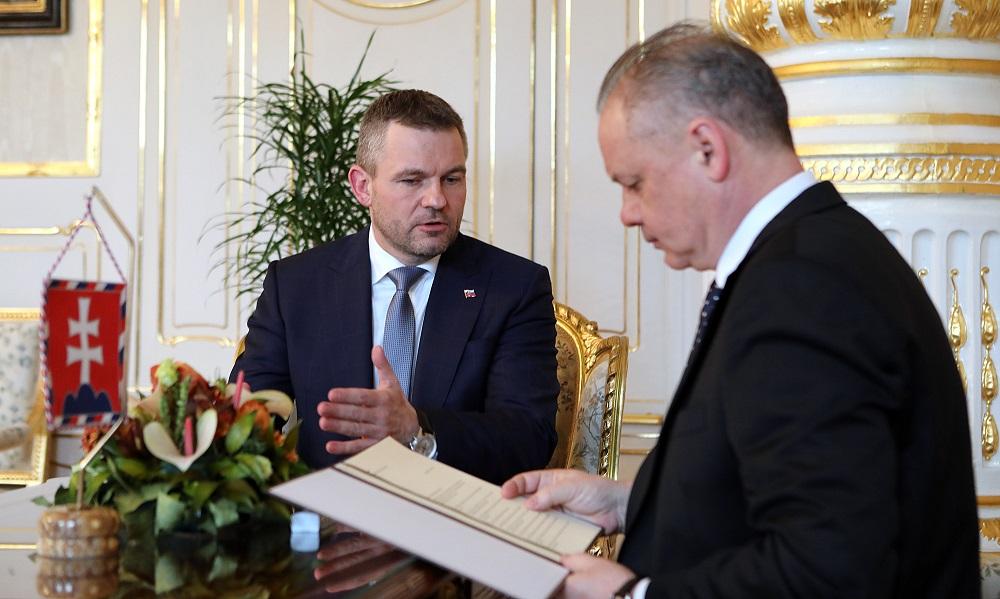 Prezident prevzal návrh na členov vlády Petra Pellegriniho