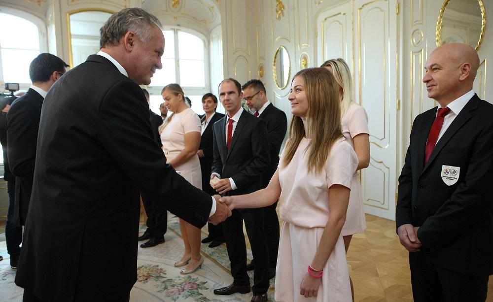 Prezident prijal úspešných deaflympionikov