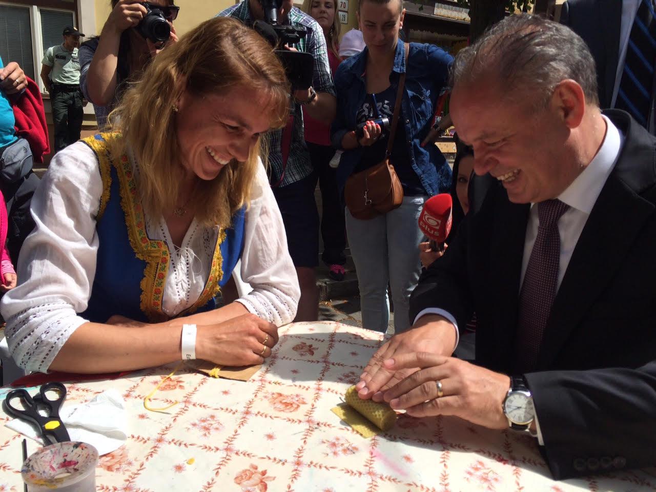 Prezident na festivale remesla: Je zážitok vidieť tie nádherné veci