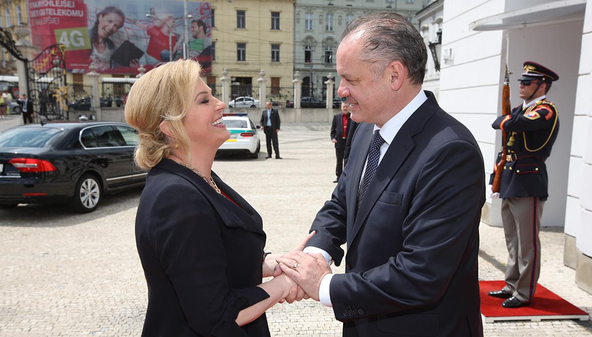 Kiska sa stretol s prezidentkou Chorvátska a prezidentmi Gruzínska a Macedónska