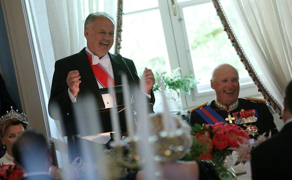 Prezident Kiska v Nórsku: Spoluprácu by sme mali ešte prehĺbiť