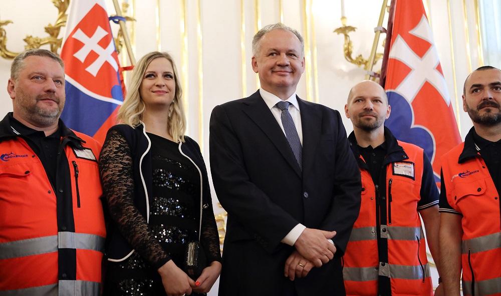 Andrej Kiska prijal laureátov ceny Zlatý záchranársky kríž