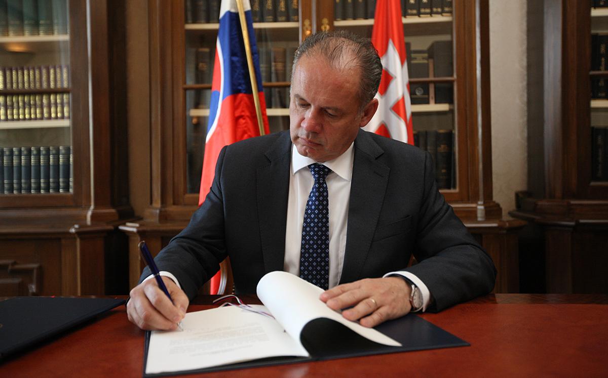 Prezident podpísal zákon o štátnom rozpočte