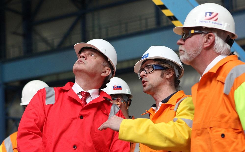 Prezident navštívil cez sviatok práce U. S. Steel Košice