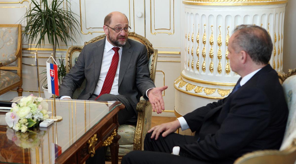 Prezident Kiska prijal predsedu Európskeho parlamentu