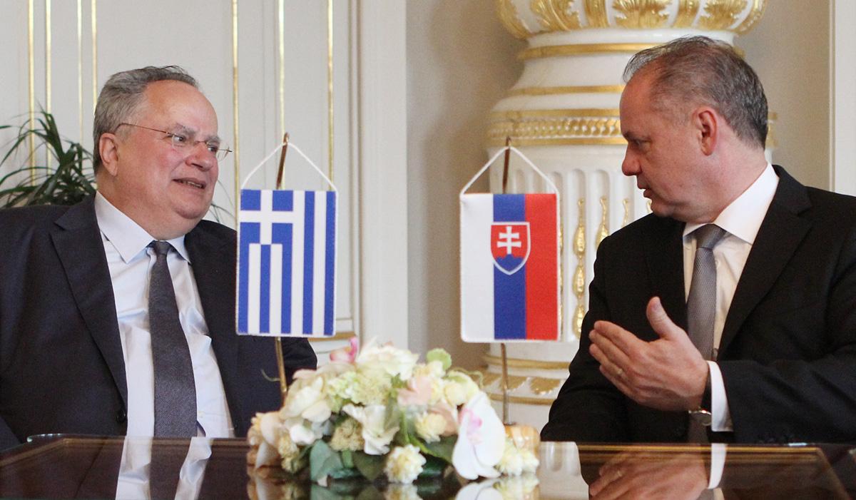 Prezident Kiska prijal gréckeho ministra zahraničných vecí