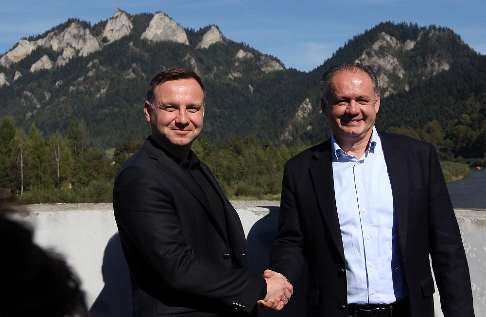 Kiska sa prvýkrát stretol s poľským prezidentom Dudom