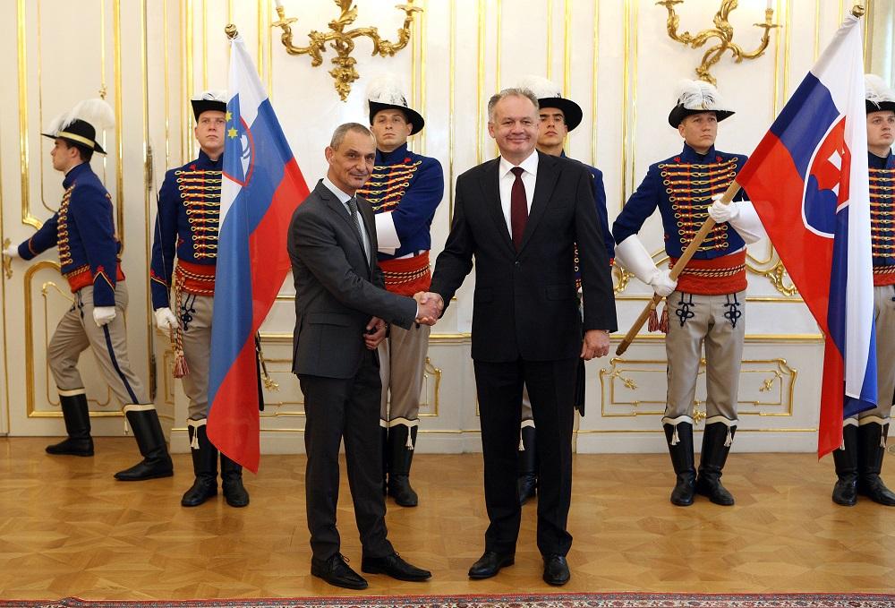 Prezident prijal nových veľvyslancov Írska, Slovinska a Chorvátska