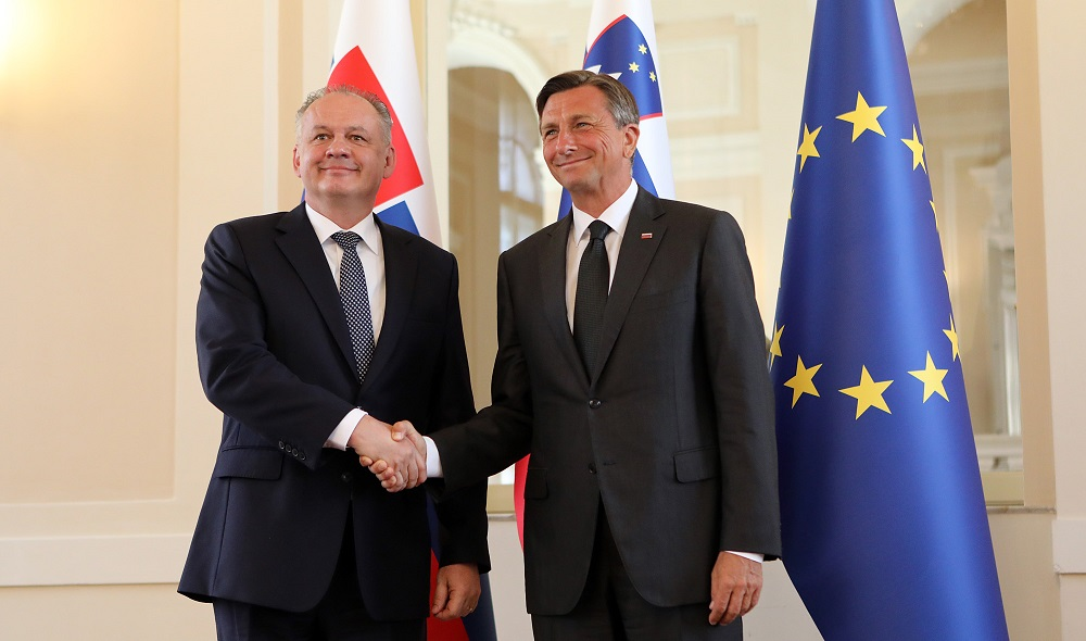 In Slovenia, Kiska talked about the economy and foreign policy